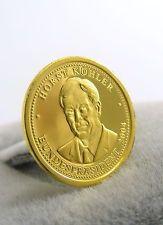 GOLD MÜNZE MEDAILLE HORST KÖHLER 1 GRAMM 999ER / 24K PP