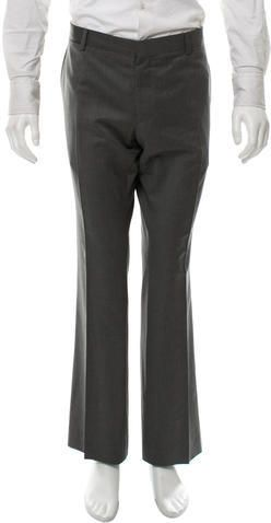 Burberry London Wool Flat Front Pants