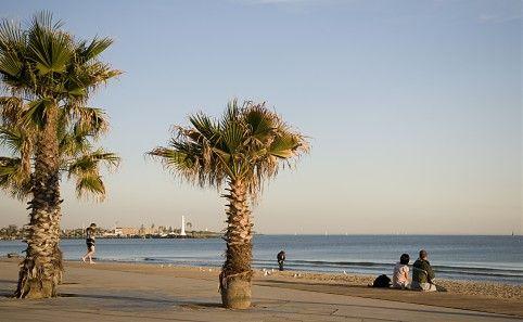 South Melbourne Beach view to St Kilda
