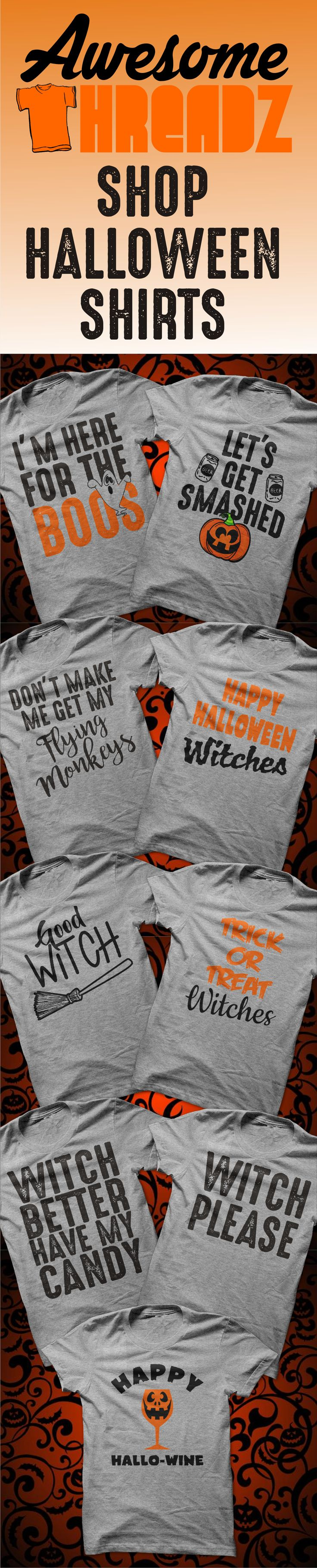 Shop now for your new Halloween Shirt. We also have 100's of other shirts to choose from. Check us out! Shirts starting at $20.00 We carry Men's Shirts, Women's Shirts and Hoodies