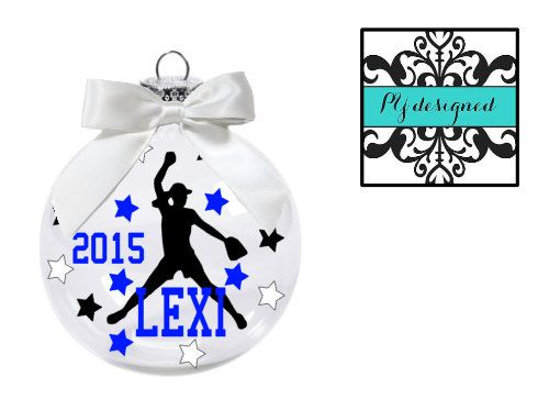 Volleyball Christmas Ornament Personalized