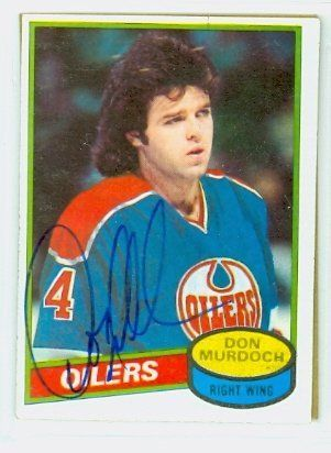 Don Murdoch AUTO 1980-81 Topps Oilers by Regular Topps Issue. $5.00. This card was signed by Don Murdoch and authenticated by JSA - a leading 3rd party authenticator