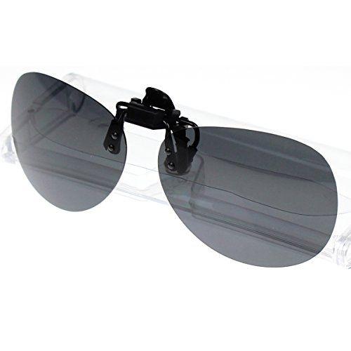 b6d95f5fc4b Jaky® Mens Womens Reflective Mirrored Lens Spring Clip on Flip up Wayfarer Polarized  Sunglasses(Blue)