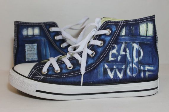 15% offThe Bad Wolf Doctor Who converse shoes Blue by LRsWorkshop                                                                                                                                                                                 More