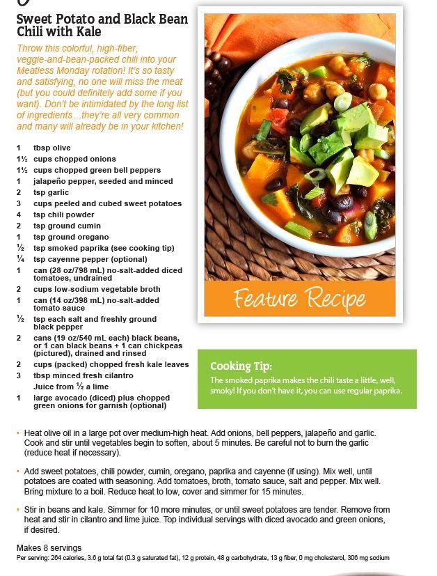 Janet & Greta's Sweet Potato and Black Bean Chili with Kale