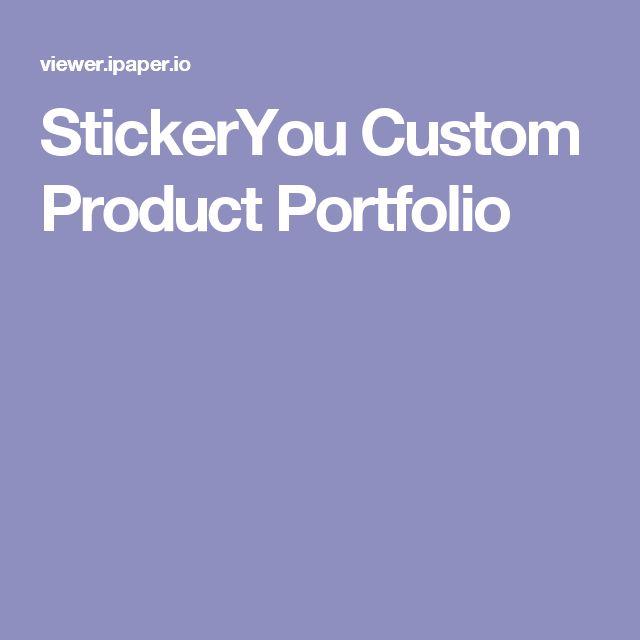 StickerYou Custom Product Portfolio