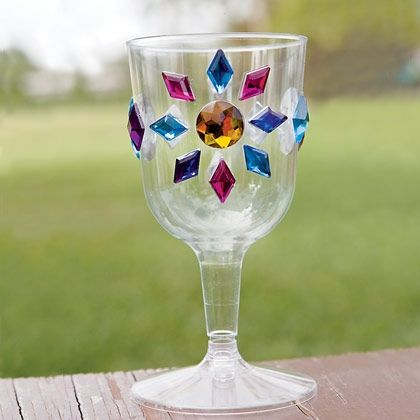 "Glorious Goblets  Raise a glass and shout ""huzzah!"" for the birthday child with these easy-to-make goblets."
