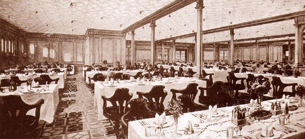 titanic -- second-class dining room - titanic | pinterest - schepen