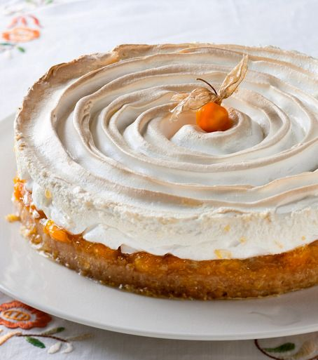 Cape Gooseberry Meringue Pie