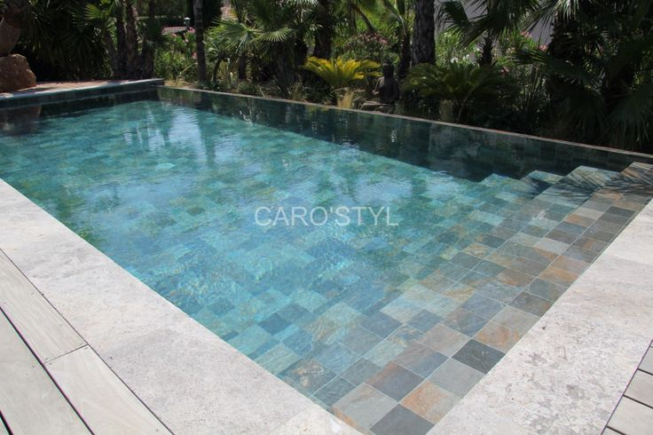 15 best piscines en carrelage green bali images on - Piscine liner ou carrelage ...