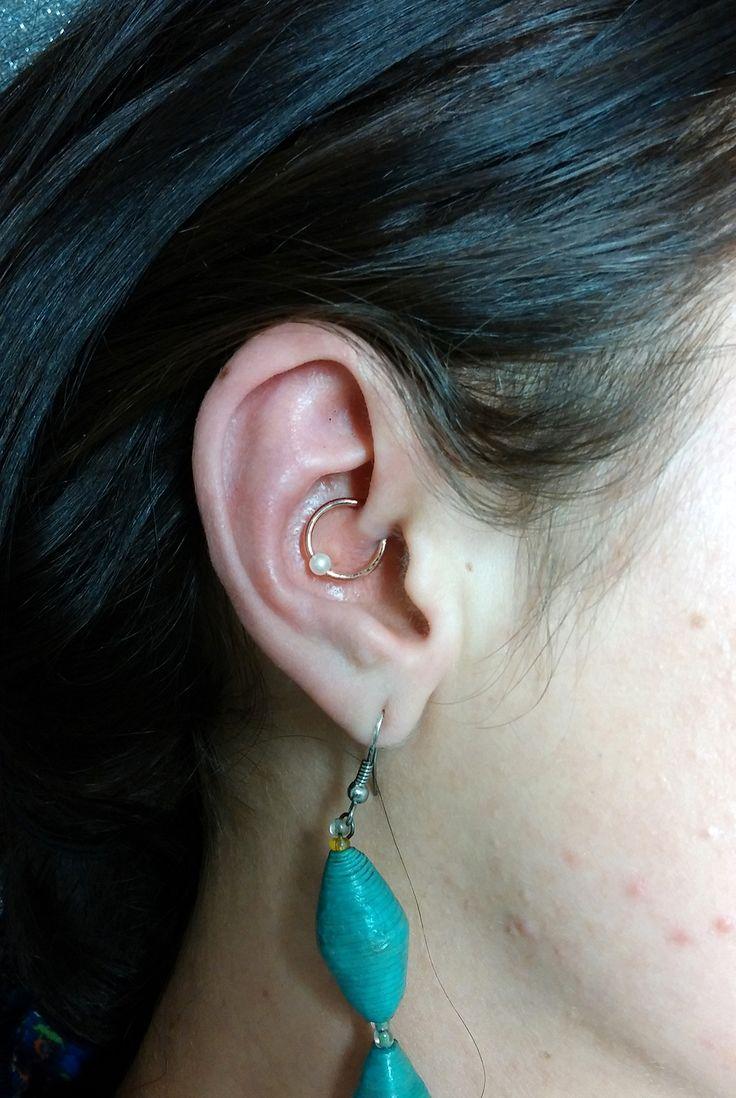 freshly #pierced #daith with a #body_gems #rosegold #captive_bead_ring with a #pearl bead #rose_gold #14k #bodypiercing #piercing #imperialbodyart #meridian #idaho #boise