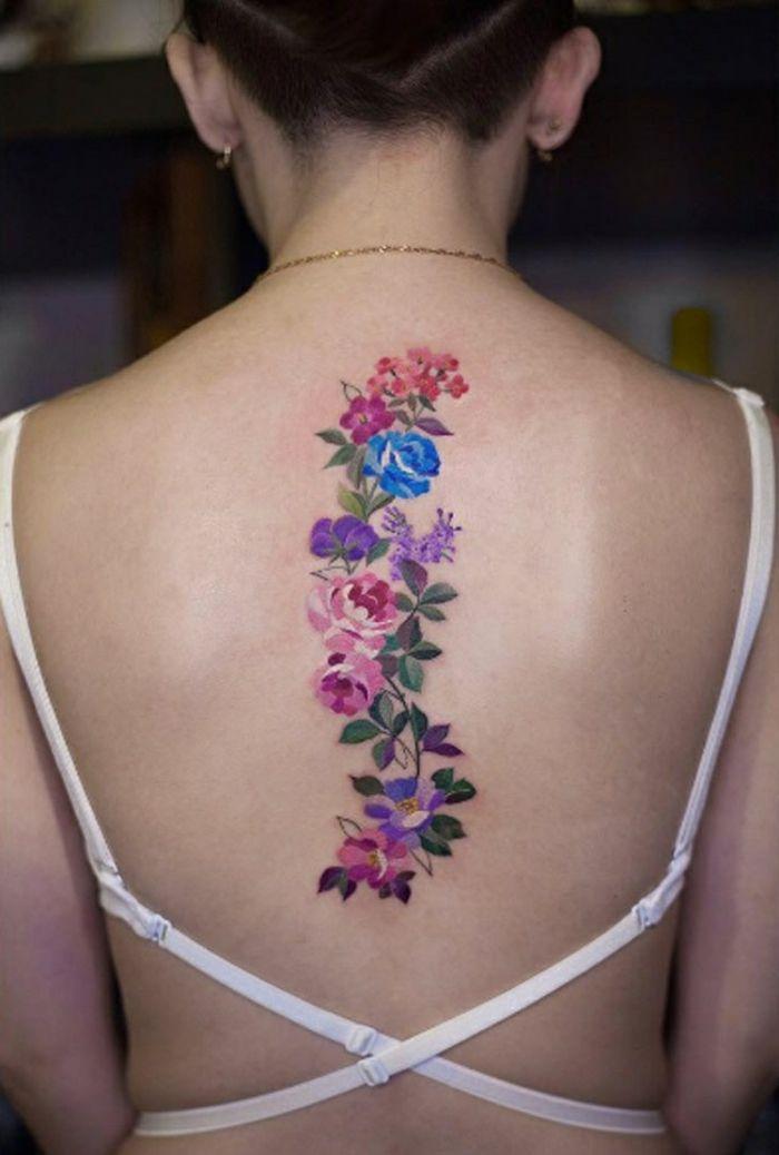 1001 Ideas De Tatuajes De Flores En Diferentes Estilos Tatuaje De Flores En La Espalda Tatuajes De Flores Tatuajes Femeninos Para La Espalda