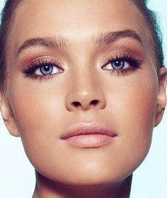 oranje make up blauwe ogen - Google zoeken