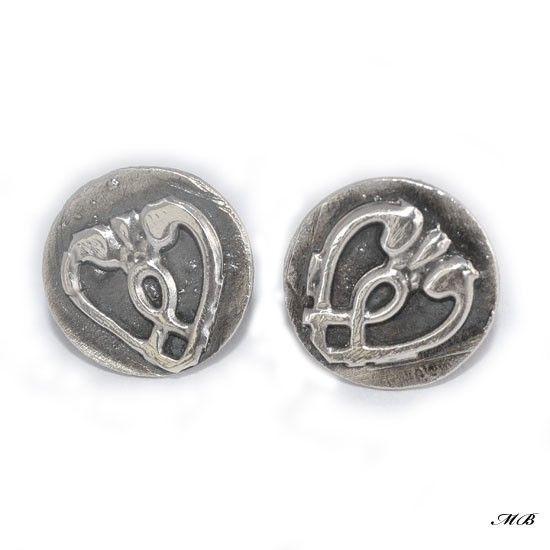 Retro kolczyki wkrętki - Kolczyki - Biżuteria srebrna
