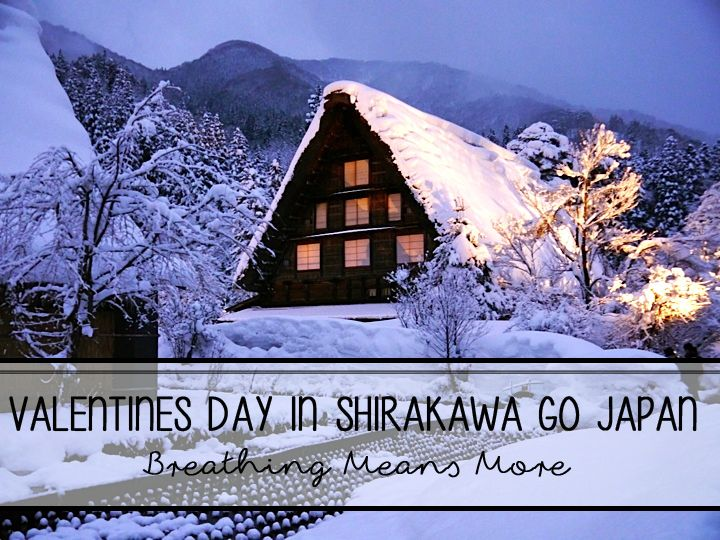 A trip to the storybook like town of Shirakawa-Go covered in snow. This  must be what the inside of a snow globe feels like. A romantic destination for couples traveling in Japan.