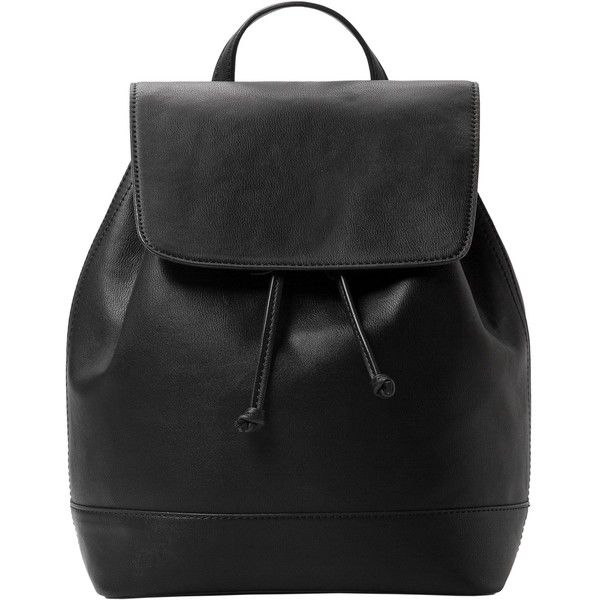 Faux Leather Backpack (83 CAD) ❤ liked on Polyvore featuring bags, backpacks…
