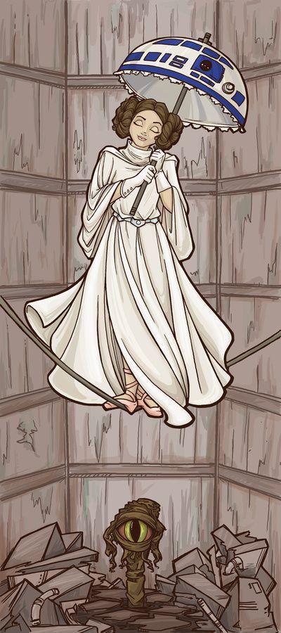 Leia's Corruptible Mortal State Art Print- Star Wars/Haunted Mansion mashup