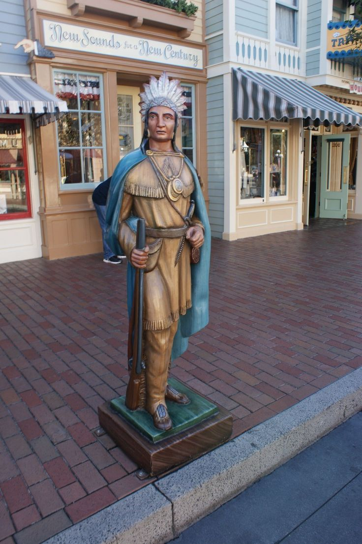 There's a cigar store Indian from when there was a smoke shop.