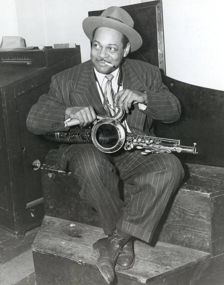 Born in St. Joseph, Coleman Hawkins got his start in jazz playing professionally in Kansas City in the early 1920s. Hawkins was an early contributor to the development of the bebop jazz style perfected by Kansas City's Charlie Parker.
