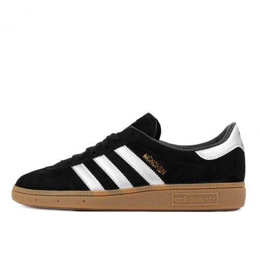 adidas München Black Matte Silver White #lpu #sneaker #sneakers