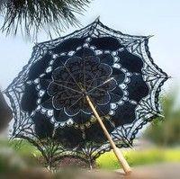 wedding full  batten Lolita costume victorian LACE umbrella parasol  black,white,ivory  Elegant, Per