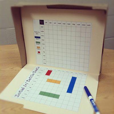French conjugation practice Battleship as a file folder game