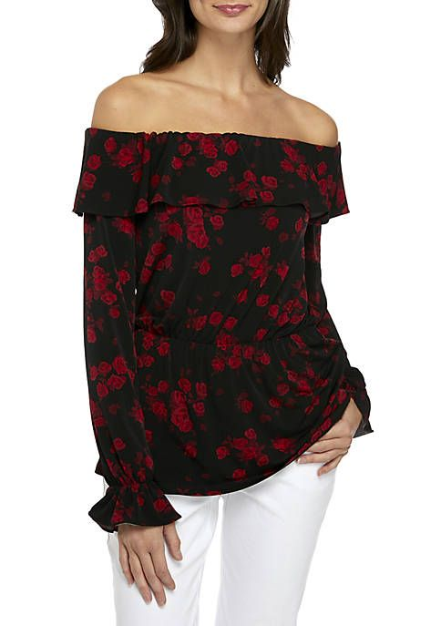 0c919460862410 MICHAEL Michael Kors Rose Off-the-Shoulder Knit Top 25.5