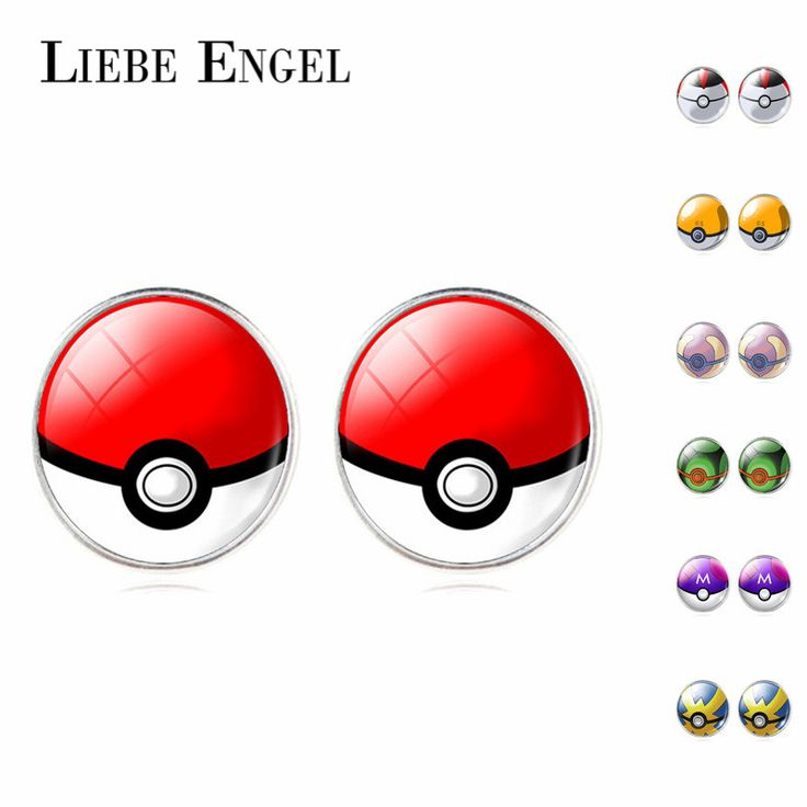 Find More Stud Earrings Information about LIEBE ENGEL Pokemon Poke Ball Earrings Vintage Glass Cabochon Stud Earrings Fashion Silver Color Earring Jewelry for Women 2016,High Quality earring led,China earrings titanium Suppliers, Cheap earrings channel from LIEBE ENGEL Official Store on Aliexpress.com