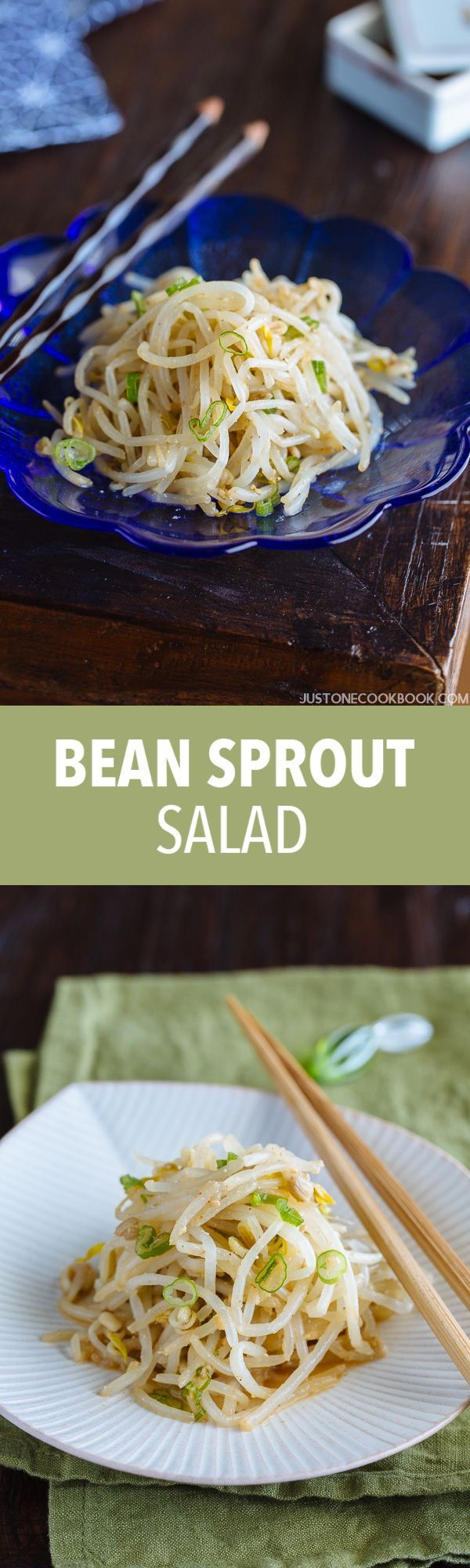 This light and refreshing Bean Sprout Salad takesonly 10 minutes to make! It's crunchy, nutty, and so addicting! It's a perfect side dish for Asian meals!