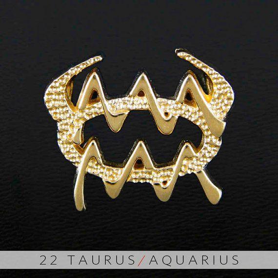22 Taurus and Aquarius Gold Unity Pendant by UnityDesignConcepts, $99.99