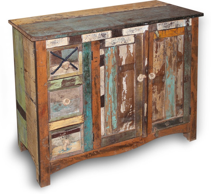 New England Reclaimed Wood Medium Sideboard from Oak & Ash Furniture - 13 Best Distressed Wood Furniture Images On Pinterest Distressed