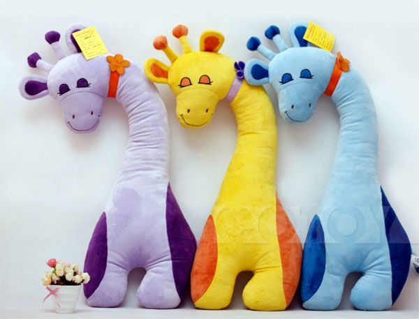 So Lovely Stuffed Giraffe Plush Toy/Candy Color/Large Sizeat EVToys.com