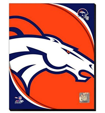 Denver Broncos Team Logo Canvas Framed Over With 2 Inches Stretcher Bars-Ready To Hang- Awesome
