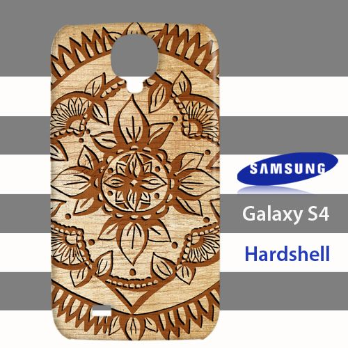Tribal Mandala Style Wood Samsung Galaxy S4 Case Cover Hardshell
