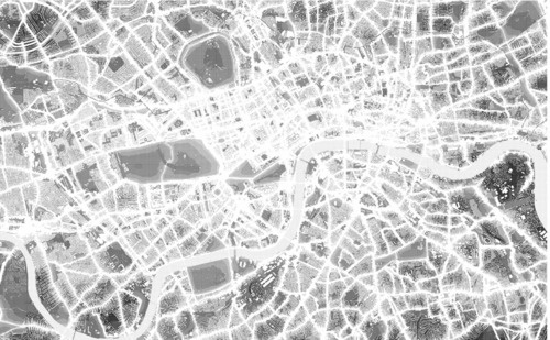 Map of noise levels in London.