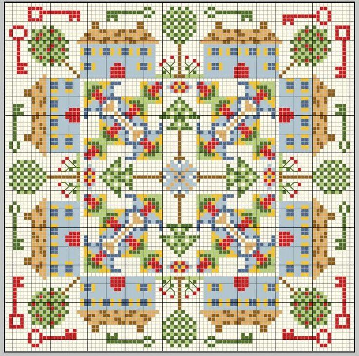 Вышивка крестом. Схемы и примеры. Cross-stitch. Schemes and examples.