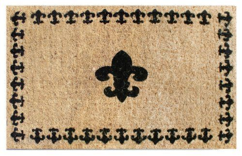 Imports Decor Printed Coir Doormat, Fleur De Lis with Border, 18-Inch by 30-Inch by Imports Décor. $40.69. Ideal for moderate to heavy-use traffic areas. Printed with weather resistant colors. Measures 18-inch by 30-inch by 1-1/2-inch. Handwoven with 100-percent coir fibre. Durable, waterproof and superior scubbing power. Enhance the entrance of your home with this high quality, hand-tufted coir doormat from Imports Decor. Handwoven from the best quality coir, and printed wi...