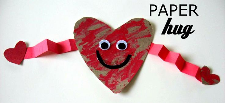 paper hug kids craft for valentine's day