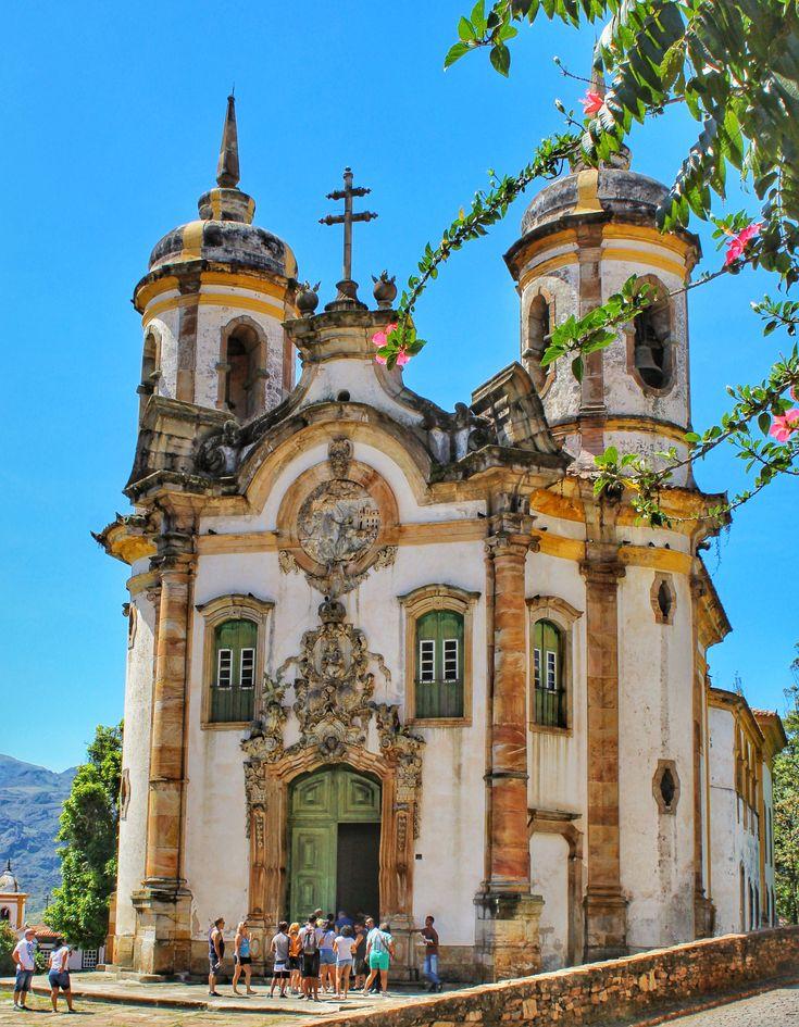 Foto da belíssima Igreja São Francisco de Assis, em Ouro Preto, MG