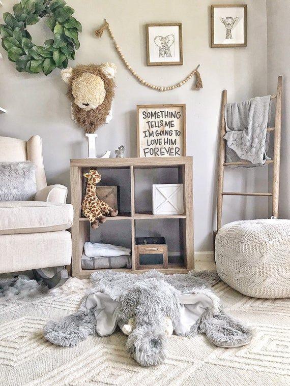 Nursery Elephant Rug – small – nursery rug by claraloo