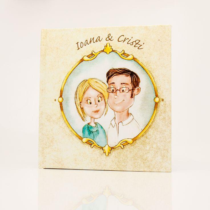 Wedding Notebook on Behance #wedding #custom #handmade #honeymoon #portrait #drawing #painting #couple #crafts