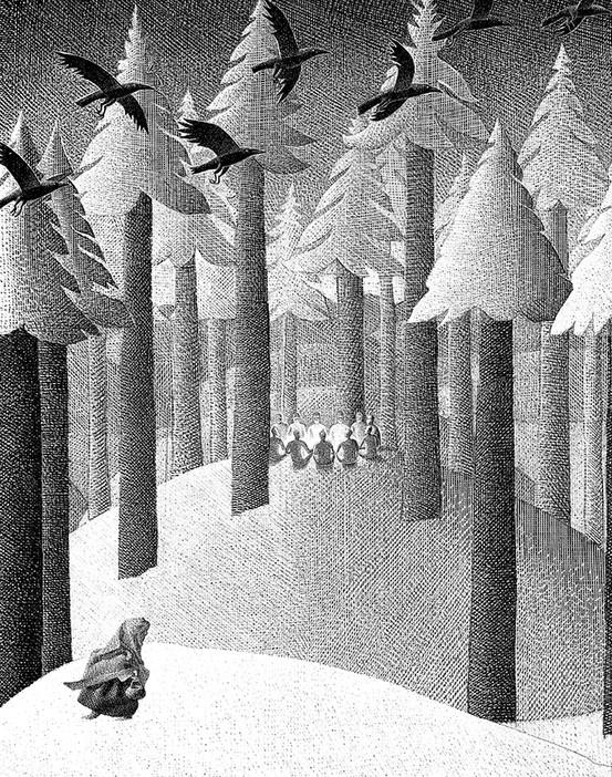Black and White Illustrations for Children by Alenka Sottler