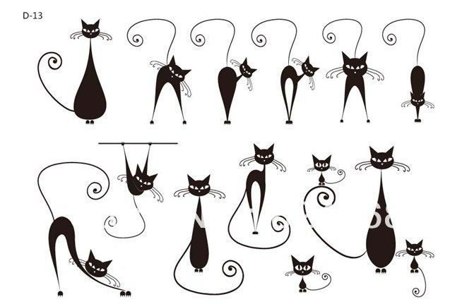 Waterproof female tattoo stickers sexy pussy cat morphological Temporary tattoo