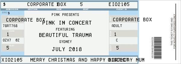 Great Fake Ticket Generator To Fake Ticket Template