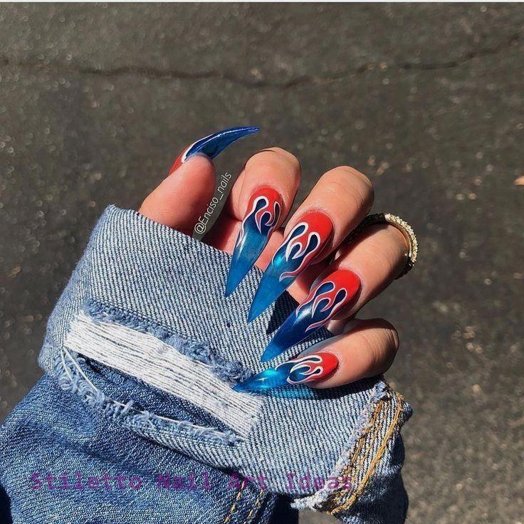 30 große Stiletto Nail Art Design-Ideen 1 #nailart   – Stiletto Nail
