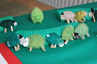 Green sheep fine motor activity