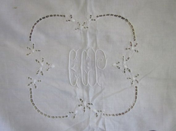 WHAT AN AMAZING FIND ~ I ALSO HAVE ANOTHER DOWRY BED LINEN LISTED AS WELL, PLEASE SEARCH GP IN MY SHOP    C1915 WHITE COTTON  LARGE BED COVERING ~