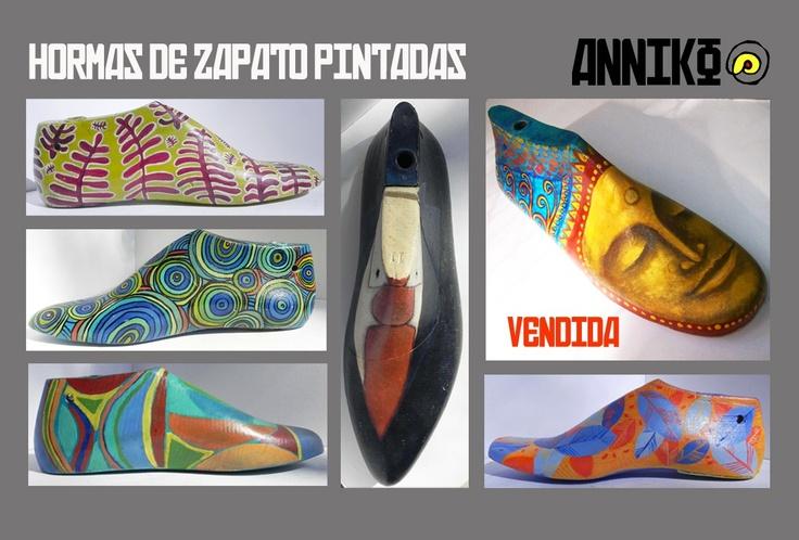 Hormas De Zapato Pintadas