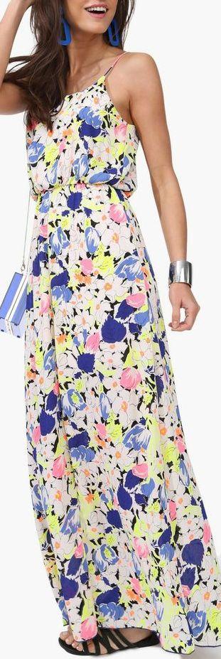 neon bouquet dress