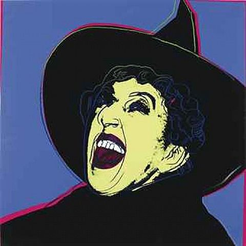 Andy Warhol - Margaret Sullivan as The Wicked Witch of the West, 1981